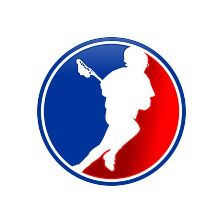 Lacrosse Sport Club Emblem Graphic Icon Design
