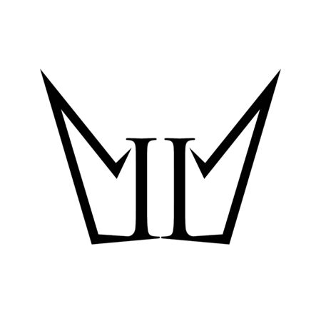 II Number Crown Shape Form Symbol Design