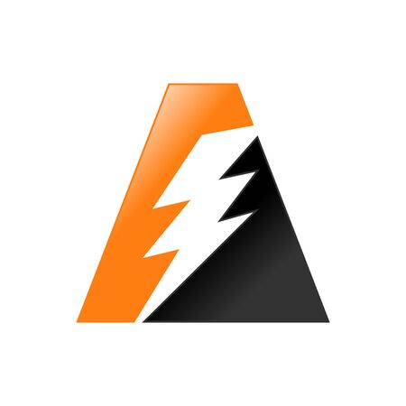Initial A Lettermark Lightning Energy Icon Design