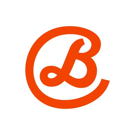 Script Initial B Lettermark in Circle Icon Design