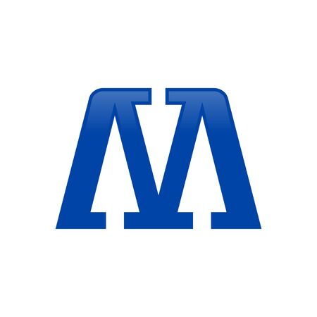 Initial M Lettermark Abstract Arrow Icon Design