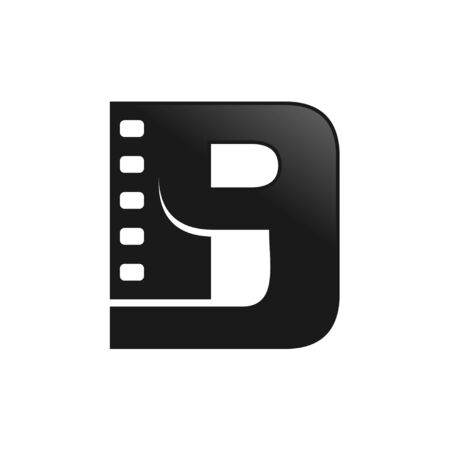 Movie Media Film Initial B Lettermark Icon Design  イラスト・ベクター素材