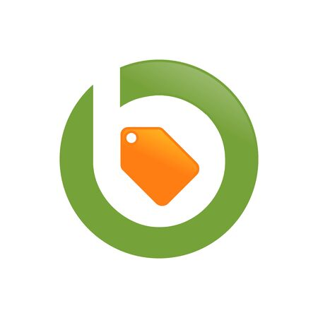 Sell Price Tag Initial B Lettermark Icon Design