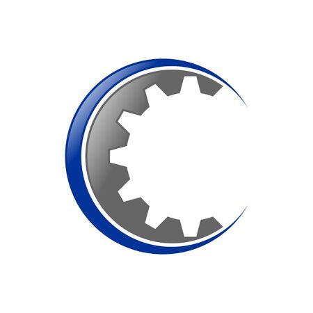 Gear Cog Initial C Lettermark Icon Design 版權商用圖片 - 138080692