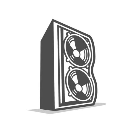 Speaker Initial B Lettermark Illustration Graphic