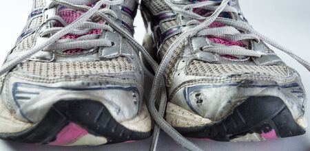 wornout: Old wornout running shoes.