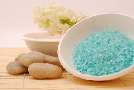 salts: Salts in a resort - Accessories for wellness, spa or relaxing bath aromatic Salts and accessory - Zen culturer