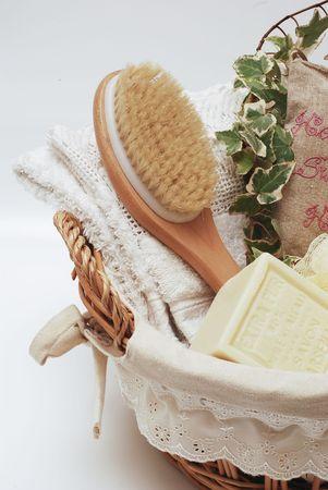 SPA towels wellness soap Stock Photo