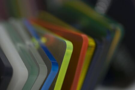 Farbe: Detail of Plexyglass pantone color guide - colors concept