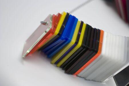 icc: Detail of Plexyglass pantone color guide - colors concept