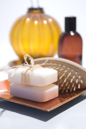 Soap and accessories for wellness, spa or relaxing Stock Photo - 2637469