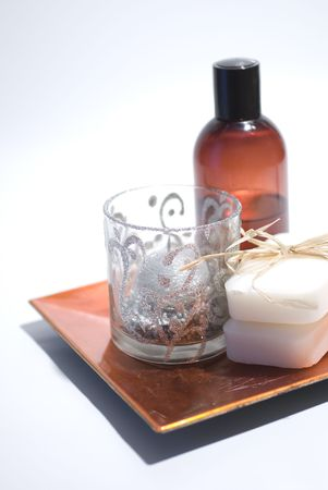 Soap and accessories for wellness, spa or relaxing Stock Photo - 2637497