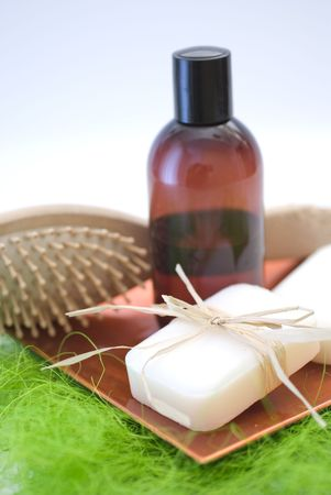 Soap and accessories for wellness, spa or relaxing Stock Photo - 2637528