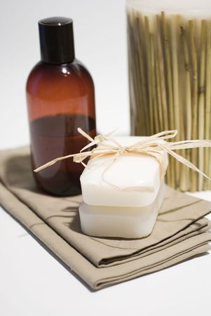 SPA soap and towels accessories for wellness or relaxing Stock Photo - 2715860