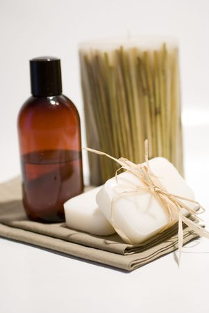 SPA soap and towels accessories for wellness or relaxing Stock Photo - 2715799