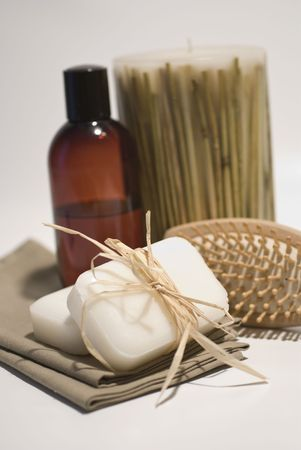 SPA soap and towels accessories for wellness or relaxing Stock Photo - 2715798