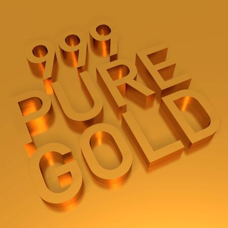 999 pure gold Stock Photo - 2836344