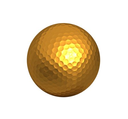 gold golf ball background Stock Photo - 2836362