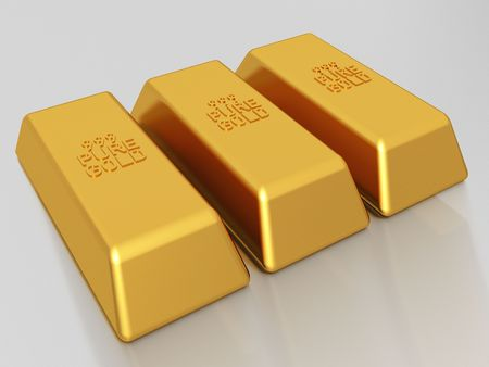 Gold bars of 999 pure gold bullion photo
