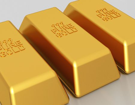 Gold bars of 999 pure gold bullion Stock Photo - 2836434