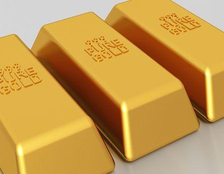 gold bullion: Gold bars of 999 pure gold bullion
