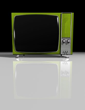 Old vintage black and white TV screen
