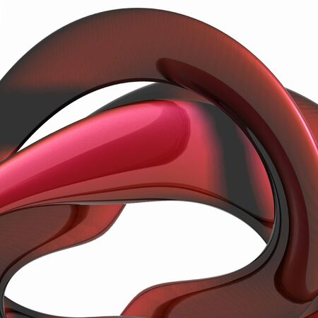 Abstract metal red spiral background