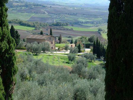 Paisaje, de viaje en Italia, Toscana Foto de archivo - 2843090