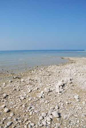 view of a coast line in the lake Stock Photo - 2843155
