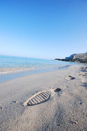 view of a beach in the Mediterranean photo