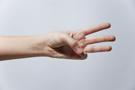 Counting Hands from one to five, isolated over background Stock Photo - 2862494