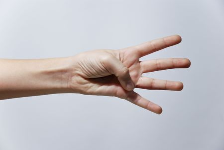 Counting Hands from one to five, isolated over background Stock Photo - 2862498
