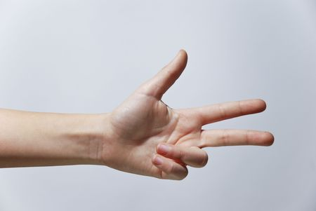 Counting Hands from one to five, isolated over background Stock Photo - 2862499