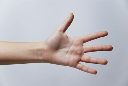 Counting Hands from one to five, isolated over background Stock Photo - 2862511