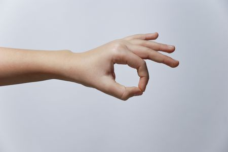 Counting Hands from one to five, isolated over background Stock Photo - 2862493