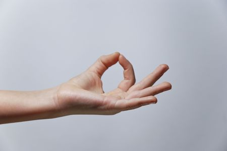 Counting Hands from one to five, isolated over background Stock Photo - 2862502