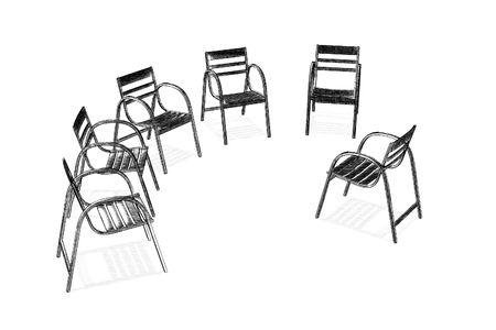 観察: 精神分析のチーム グループ観察 写真素材