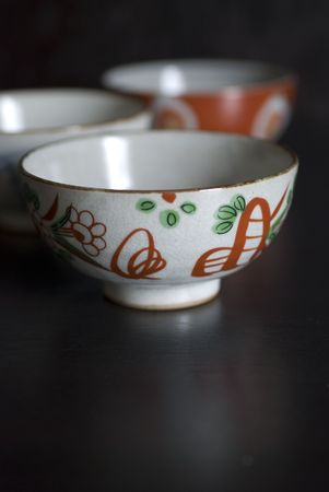 Asian herb tea on an old rustic cup photo