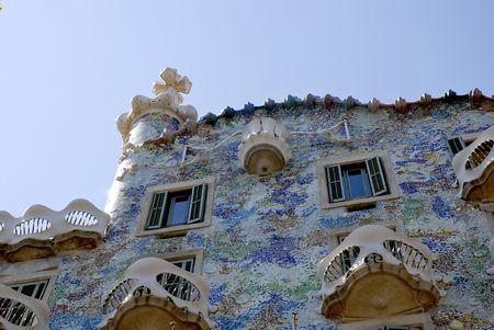 Travel in spain Casa Batllo by Antoni Gaudi