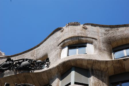 familiar: Casa Mila or La Pedrera exterior with lots of curves, Barcelona, Spain