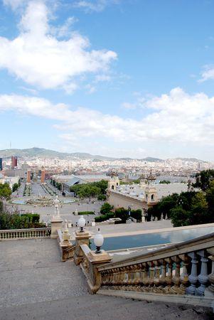 familiar: Travel in spain view of Barcelona