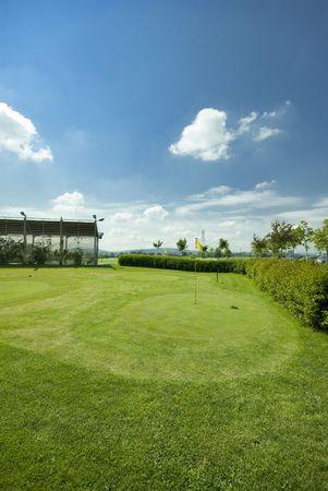Golf club view of putting green - sport