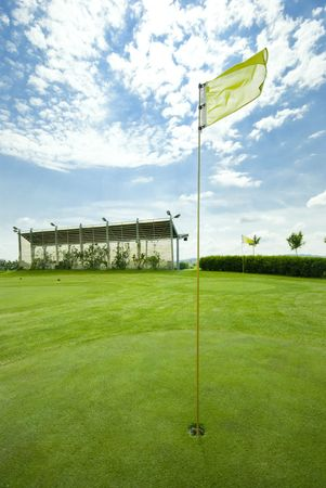 Golf club view of putting green - sport  photo