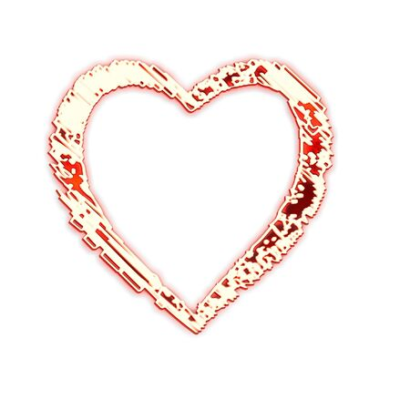 corazon: Composition from the red stylized hearts on a white background