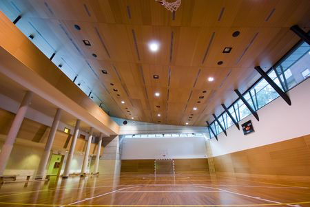 A perspective view of basketball indoor sport court Stock Photo - 3099221