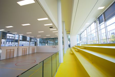 A perspective view of basketball indoor sport court Stock Photo - 3099210