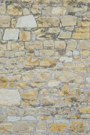 blotches: Old brick and stone wall Stock Photo