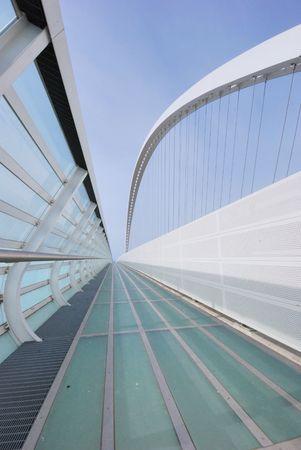 A modern Calatrava bridge in Reggio Emilia Italy Stock Photo