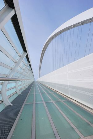 A modern Calatrava bridge in Reggio Emilia Italy photo
