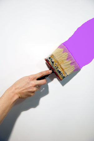 brush on a women hand